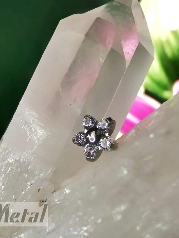 Accessoires piercing - Fleur titane Neometal